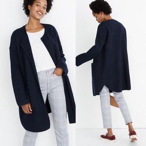 NEW Madewell Minetta Sweater Coat Navy Blue